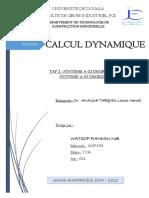 TAF 2 Calcul dynamique - Watsop Piankeu Noel - 16G03301