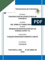 Trabajo de investigación de las Normas ASTM C-94 15510218