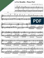 Concerto for Remilia - Piano Part