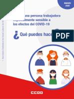 CCOO Salud Laboral Qué hacer si eres sensible coronavirus