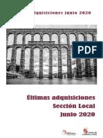 Ultimas Adquisiciones Junio 2020