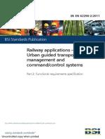 62290-2 (2011 en BS) Urban Rail Control Command