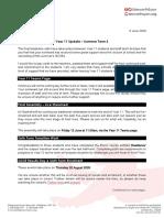 2020-06-05 Year 11 Update - Summer Term 2