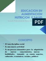 educaion alimentario nutricional objetivos . caracteristicas,  martes 07  octubre 2014copia.ppt