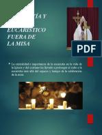 la Eucaristía exposición