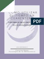 Guía Salud Emocional Adolescente -Utilización del tiempo en cuarentena-