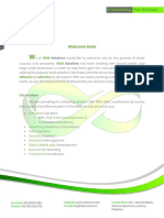 ODM solutions welcome note