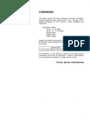 1HD-T_1 Land Cruiser Engine Service Manual | Internal