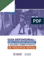 GUÍA DEFENSORIAL PARA LA ATENCIÓN INTEGRAL A MUJERES SOBREVIVIENTES DE VIOLENCIA SEXUAL