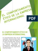 EL COMPORTAMIENTO ÉTICO DE LA EMPRESA INTERNACIONAL