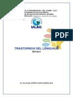 Ensayo sobre los diferentes trastornos del lenguaje y los factores que generan dificultad en el aula