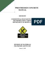 Precast-Prestressed Concrete Manual - KYDOT