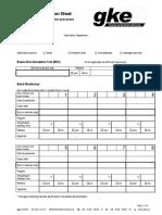 Documentation Sheet Sterilization English