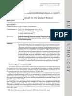 The ethological approach to the study of human behaviour - Zdenek Klein