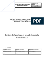 PR-SF-003 RECEPCION DE MEDICAMENTOS Y DISPOSITIVOS.docx