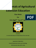 Fundamentals of Agriculture Extension Education