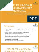 Slides Simples Nacional na Receita Municipal