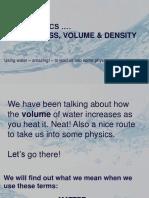 Matter Volume Density Mass Water