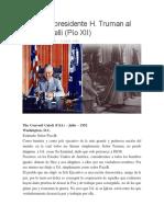 Carta del presidente H. Truman al papa Pancelli