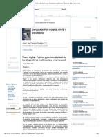 Poética Y Performatividad De Los Dispositivos Multimedia Y Entornos Web - Libro Gratis.pdf