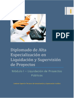 MODULO 1 Liquidación y Supervisión de Proyectos