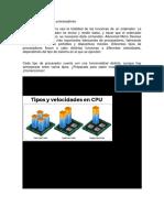 Tipos y velocidades de procesadores