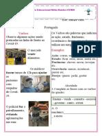 Identificando verbos