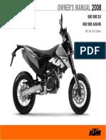 KTM 690 SMR owners manual