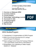 Introduction to Malaysia NRW - Water Supply Dept.
