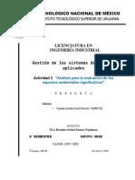 Análisis para la evaluación de los aspectos ambientales significativos