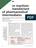 Nitration Reactions in Pharma Intermediates