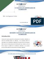 REVISIÓN Y USOS DEL CERTIFICADO DE CALIBRACIÓN