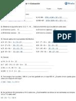 SOLUCIONARIO de exámenes 1 eso