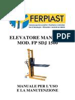 Carrello elevatore manuale FP SDJ 1500