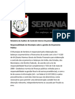 Relatório de auditoria (Recuperação Automática)
