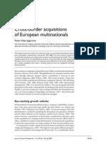 EU Companies Acquisitions