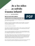 Amando a los niños que han sufrido trauma infantil