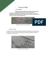 Tipos de Fallas en Pavimentos