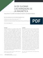 EVALUACIÓN DE GLIOMAS POR TÉCNICAS AVANZADAS DE RESONANCIA MAGNÉTICA