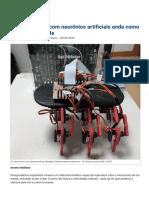Inseto robótico com neurônios artificiais anda como inseto de verdade