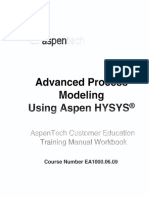 HYSYS_Course EA1000 Advanced Process Modeling