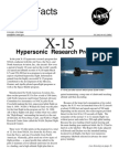NASA Facts X-15 Hyper Sonic Research Program
