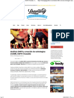 Análisis DAFO y creación de estrategias (CAME, DAFO Cruzado) - Learning Legendario