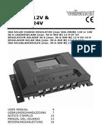 Manual English Velleman SOL30UC12V & SOL30UC24V 30A solar regulator