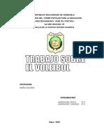 TRABAJO DE EDUCACION FISICA SOBRE EL VOLEIBOL 2020