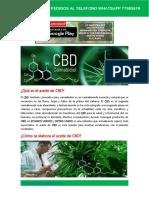 Aceite CBD Bolivia Presentacion oficial