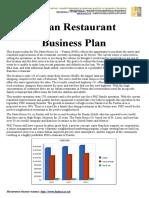 Italian Restaurant Business Plan