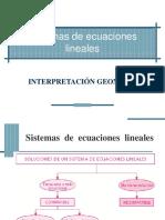 Interpretación geométrica de los Sistema de ecuaciones lineales