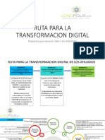 RUTA PARA LA TRANSFORMACION DIGITAL
