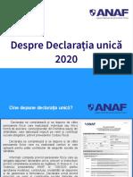 GHID Declaratia Unica 2020